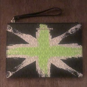 Jet Set Large Mixed-Media Travel Pouch